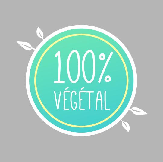 étiquette signalétique pastille restauration 100 % végétale