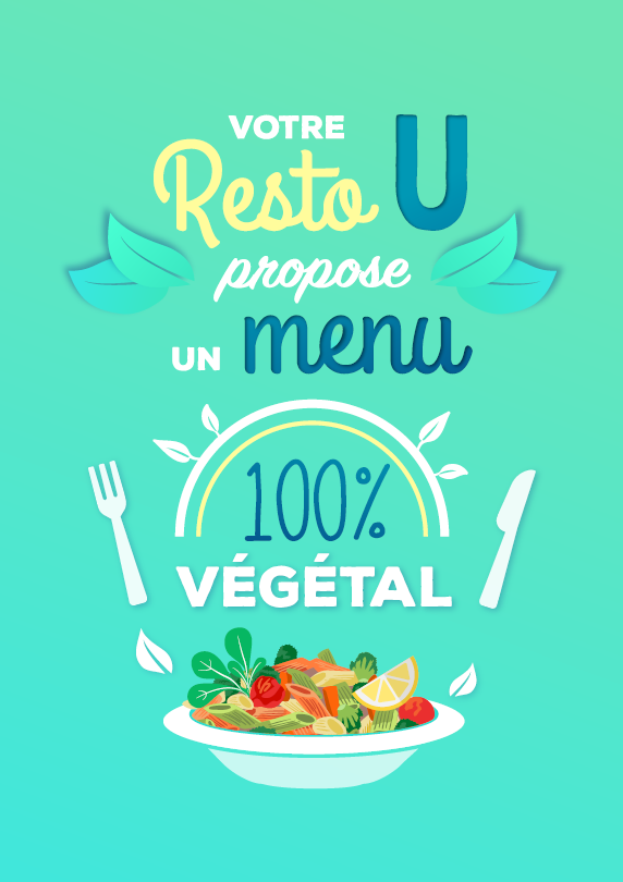 affiche resto U menu végétal