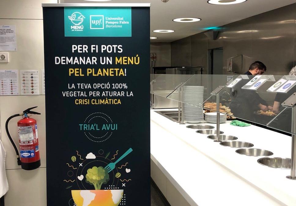 Un menu « 100 % végétal » dans une université barcelonaise